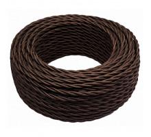 Витой провод электрический 2*0.75 коричневый глянцевый B1-422-072 BIRONI