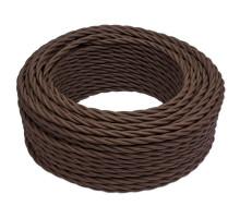 Витой провод электрический 2*0.75 коричневый B1-422-72 BIRONI