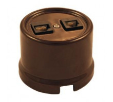 Компьютерная розетка коричневая B1-302-02 BIRONI