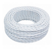 Витой провод электрический 2*0.75 белый B1-422-71 BIRONI